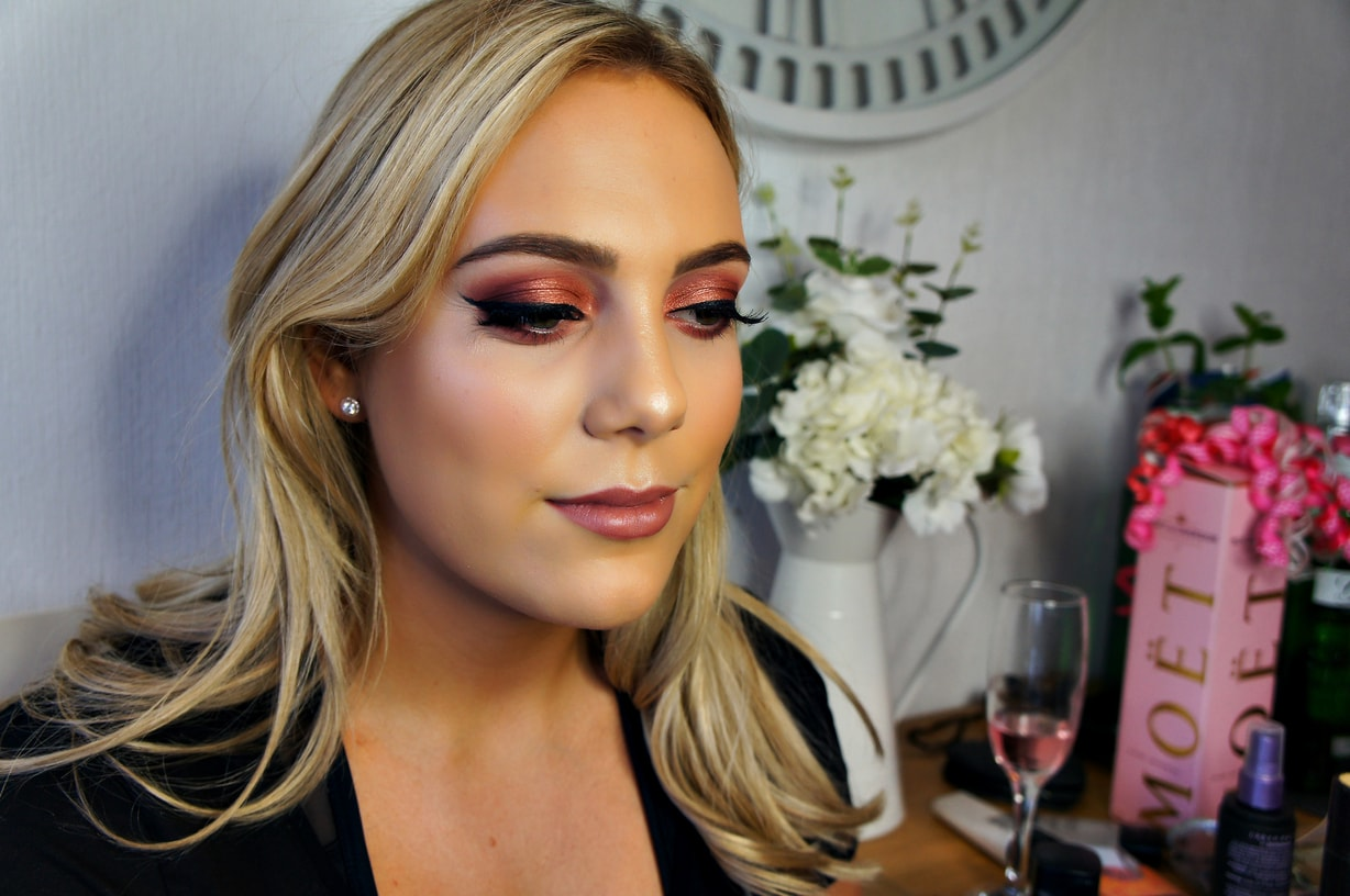 Bold Smokey Red Eye Makeup for Chloe's Birthday