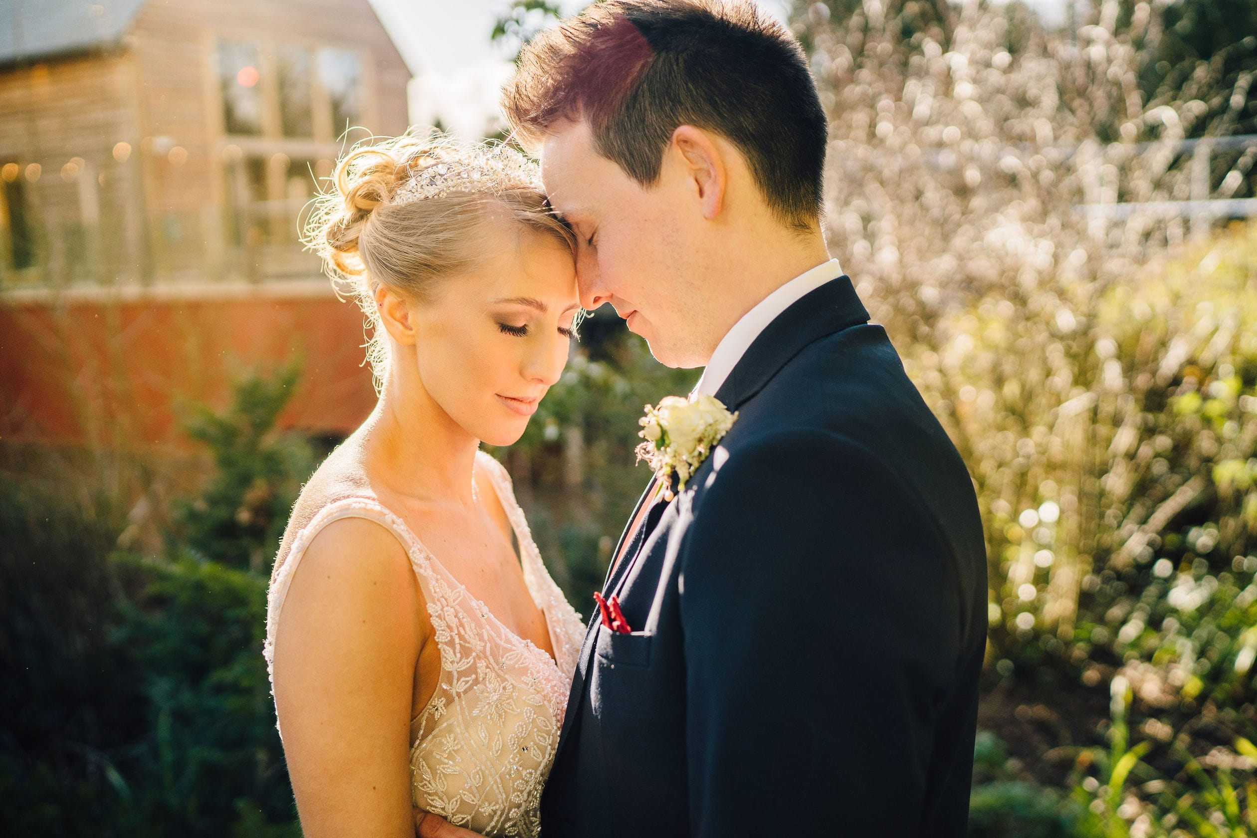 Client Photograph of Bridal Makeup by Emily Grosvenor
